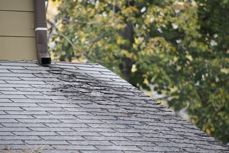a damaged roof will lead to roof leaks